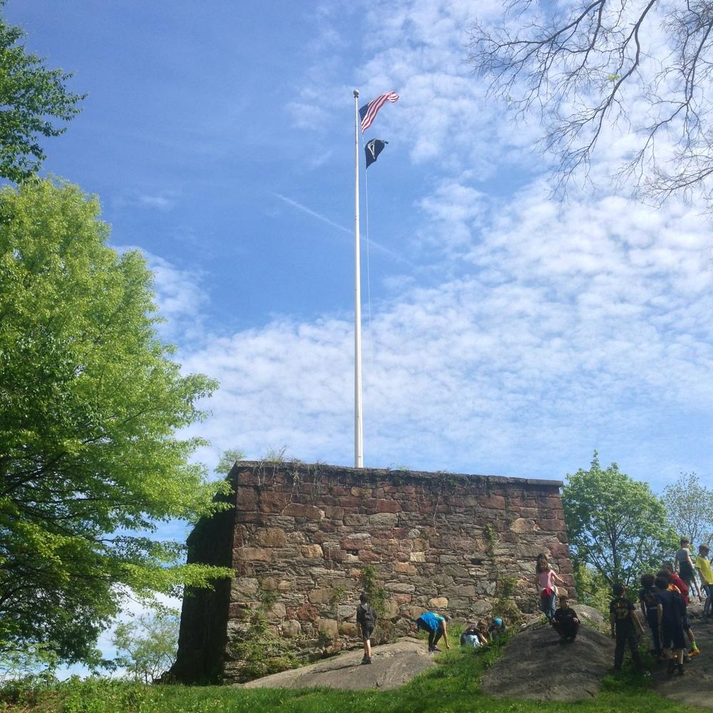 The Blockhouse. Built in 1814, it is the oldest building in Central Park