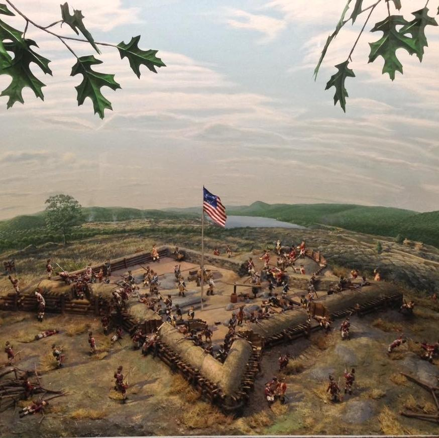 3D model of Fort Clinton at the Trailside Museum